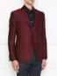 Пиджак однобортный из шерсти с узором Etro  –  МодельВерхНиз