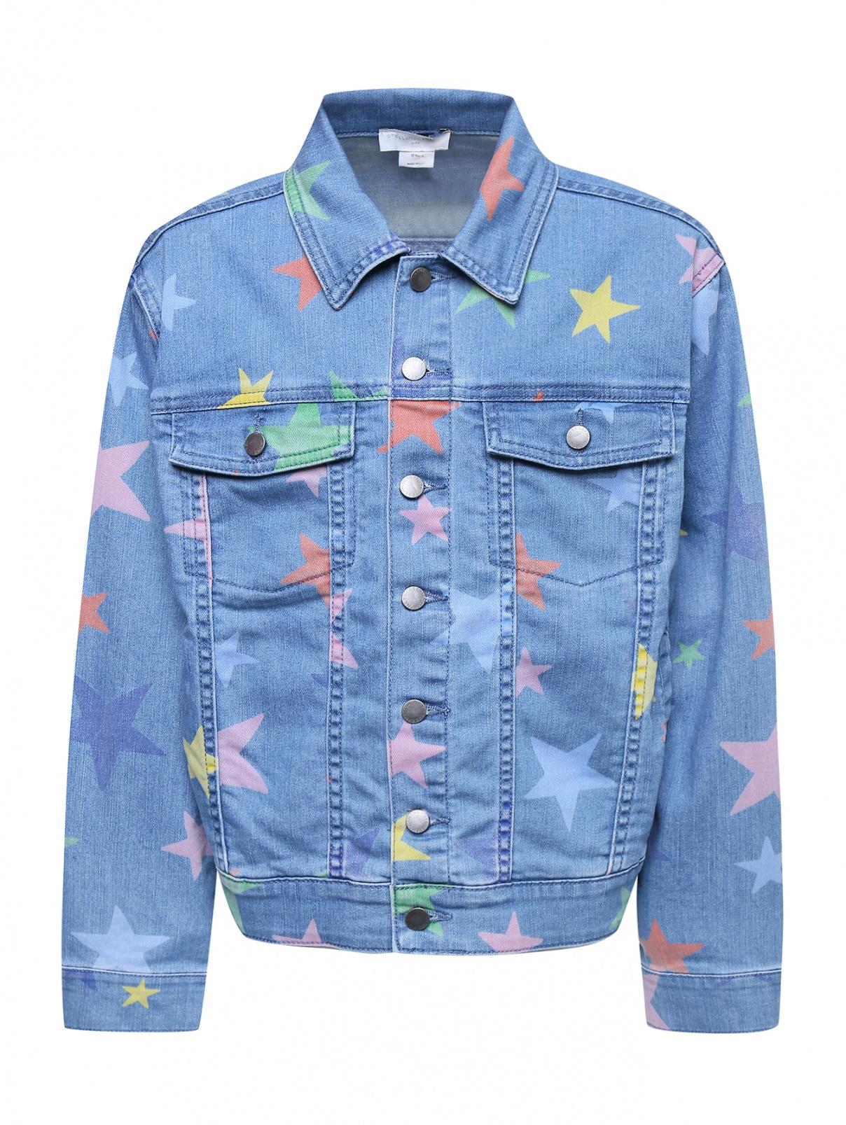 Джинсовая куртка с узором Stella McCartney kids  –  Общий вид