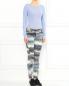 Узкие брюки из хлопка с боковыми карманами и узором Kenzo  –  Модель Общий вид