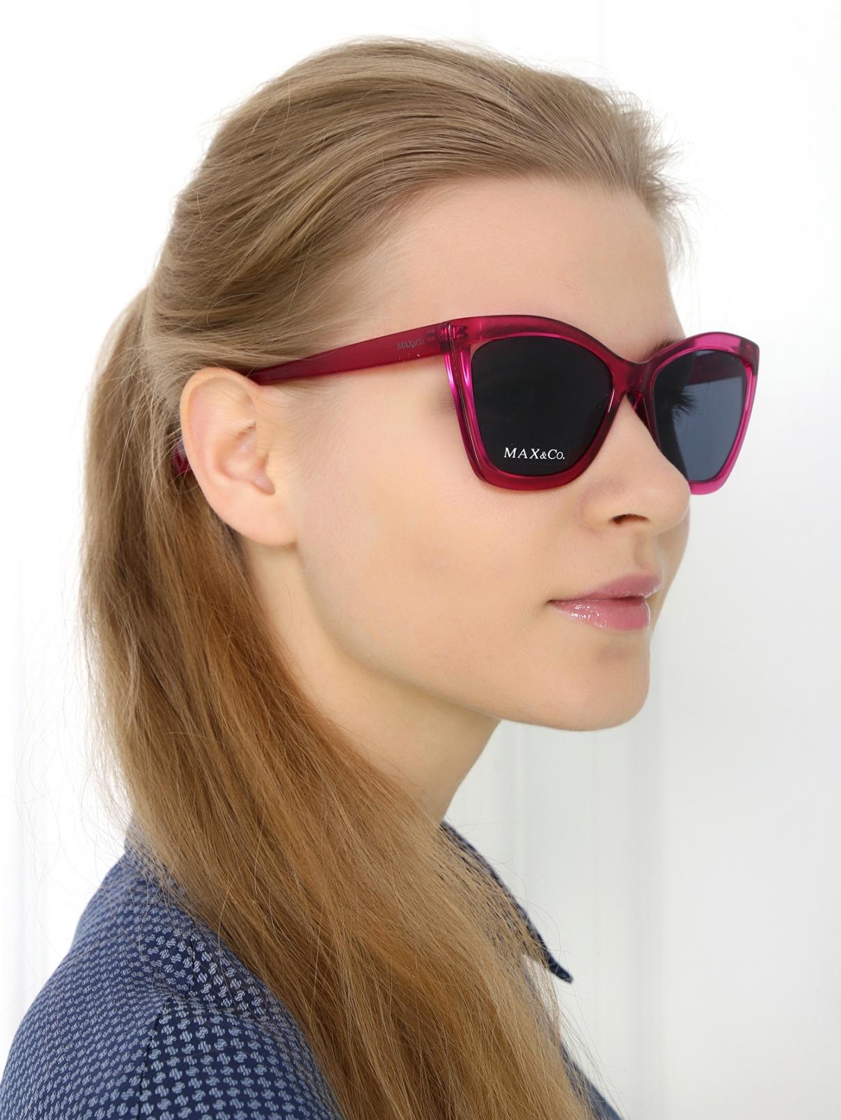 """Солнцезащитные очки """"кошачий глаз"""" в пластиковой оправе Max&Co  –  Модель Общий вид"""