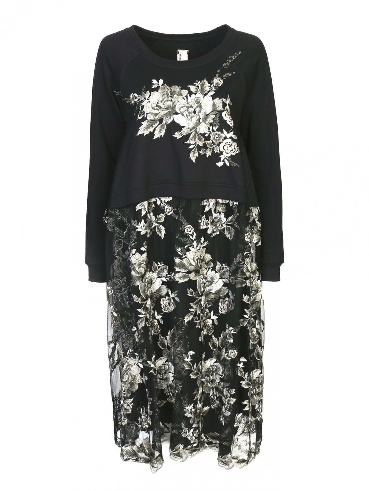 Платье-миди с декоративной вышивкой Antonio Marras  –  Общий вид