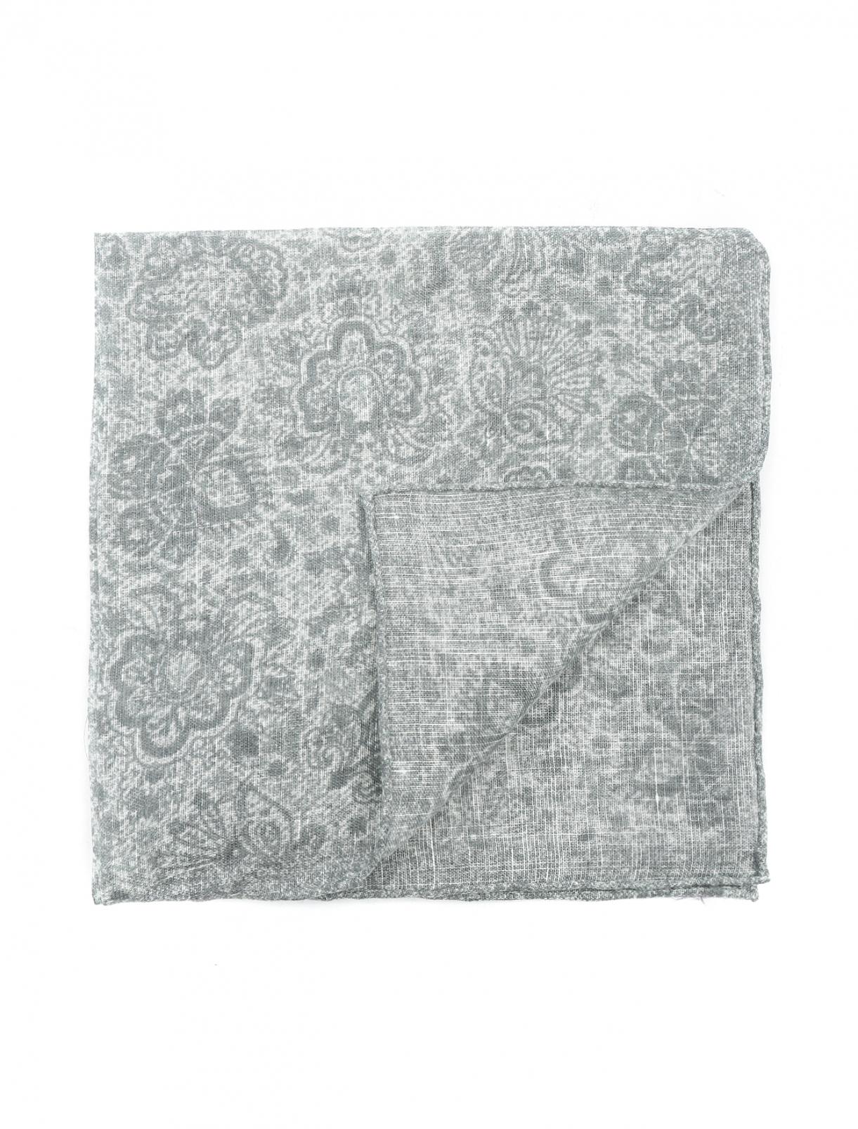 Платок из шелка с узором Isaia  –  Общий вид