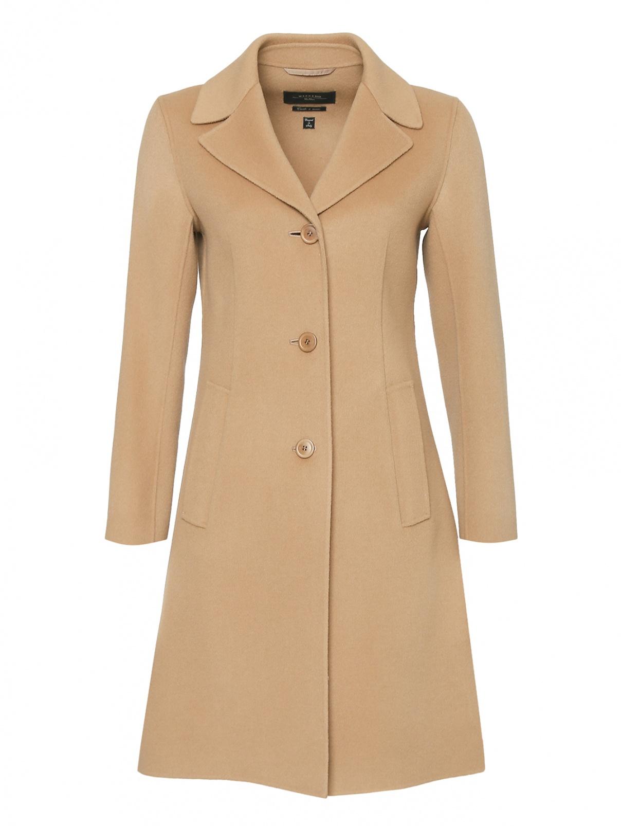 Пальто из шерсти приталенного кроя Weekend Max Mara  –  Общий вид