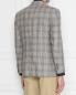 Пиджак из льна и шерсти в клетку Brooks Brothers  –  МодельВерхНиз1