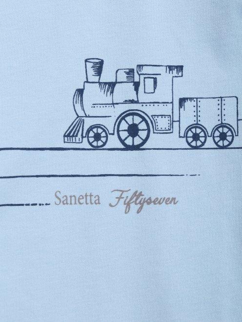 Лонгслив хлопковый с принтом Sanetta - Деталь1