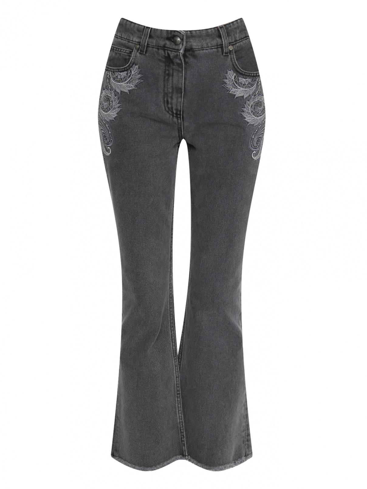 """Укороченные джинсы с узором """"пейсли"""" Etro  –  Общий вид"""