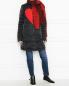 Шарф из шерсти и кашемира с рисунком Persona by Marina Rinaldi  –  МодельОбщийВид