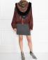 Платок из кашемира и шелка с отделкой мехом лисы Etro  –  МодельОбщийВид