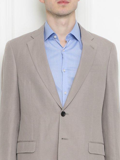 Пиджак из льна - МодельОбщийВид1