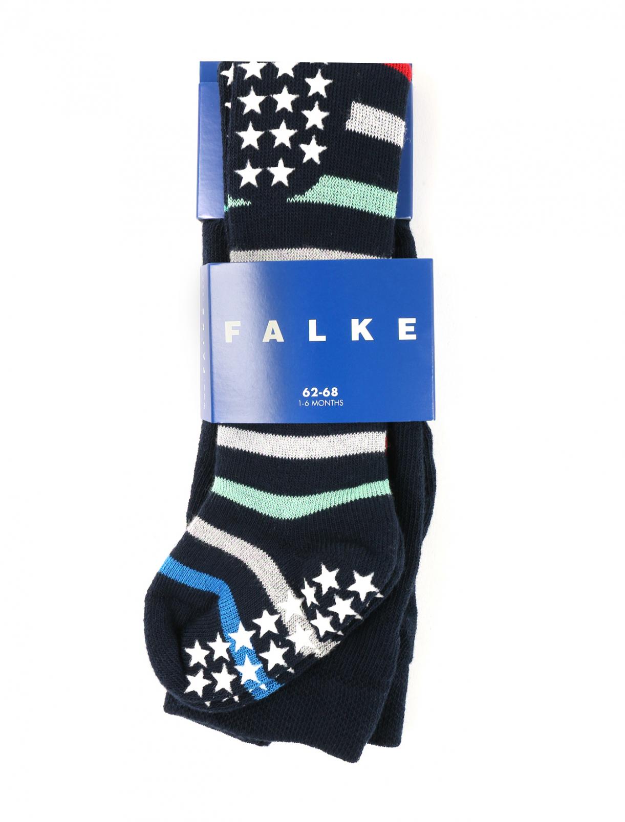 Теплые колготки из хлопка с узором Falke  –  Общий вид