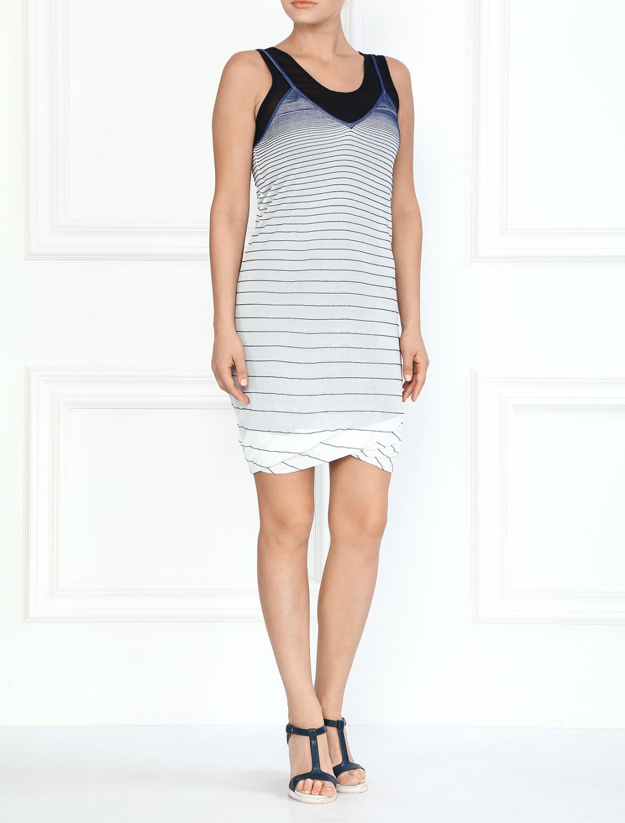 Полосатое платье на бретелях Jean Paul Gaultier  –  Модель Общий вид