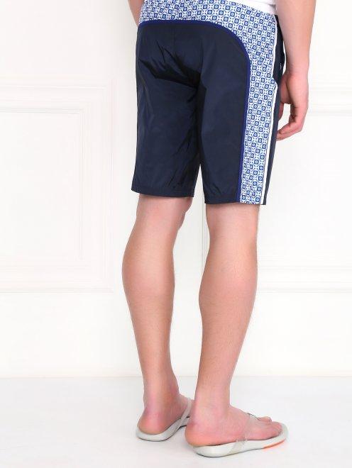 Плавательные шорты с контрастными вставками  - Модель Верх-Низ1