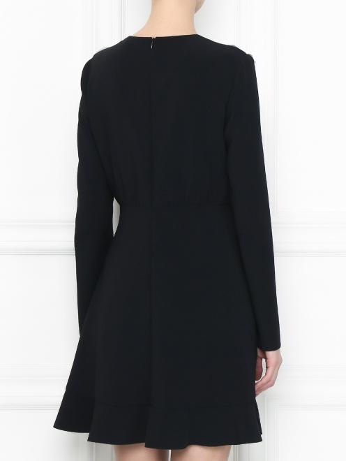 Платье-мини с контрастной отделкой Red Valentino - МодельВерхНиз1
