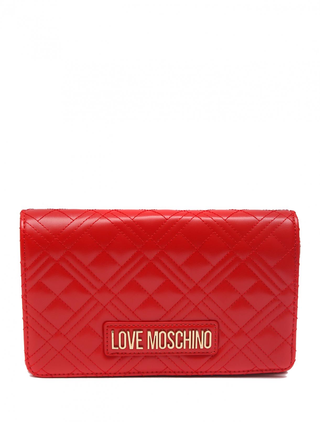 Сумка стеганая с логотипом ,на цепочке Love Moschino  –  Общий вид