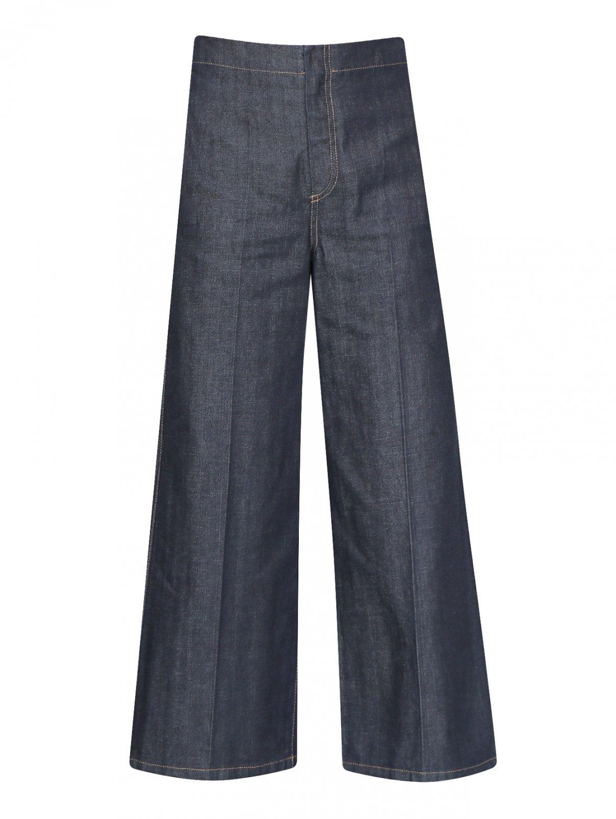 Укороченные джинсы с контрастной отстрочкой Max Mara  –  Общий вид