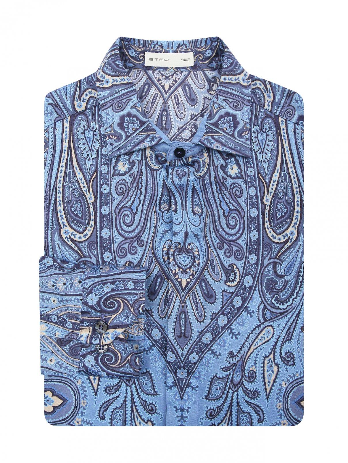 Рубашка из хлопка с принтом пейсли Etro  –  Общий вид