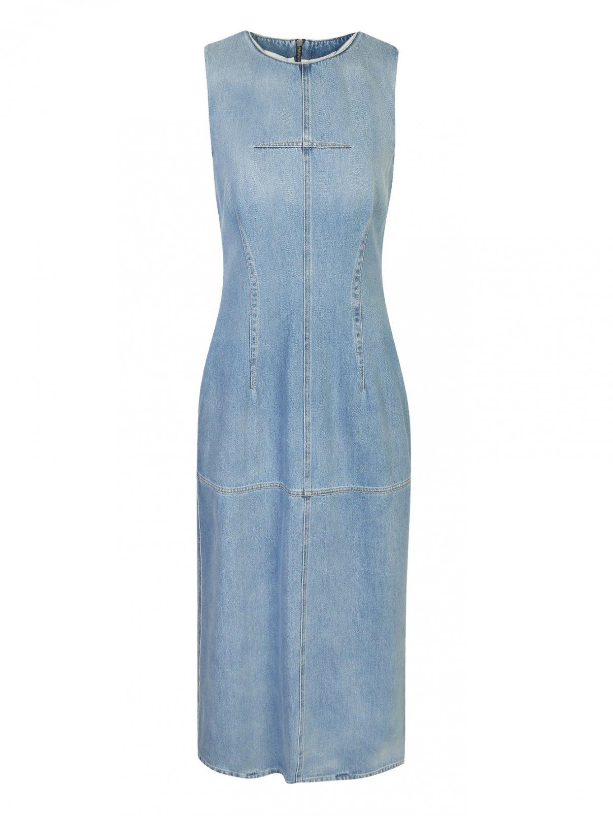 Платье-макси из денима MM6  –  Общий вид
