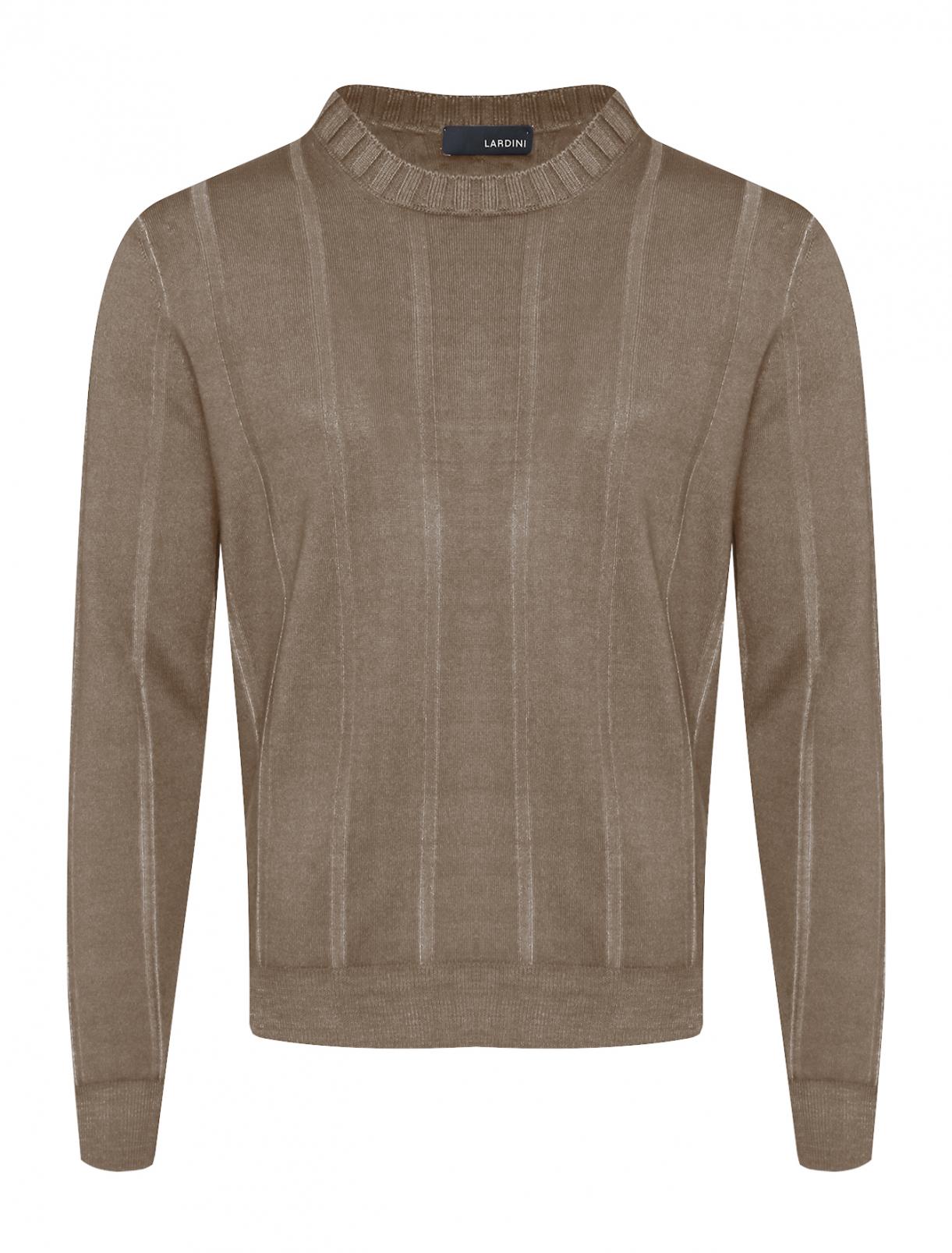 Джемпер из шерсти с круглым вырезом LARDINI  –  Общий вид
