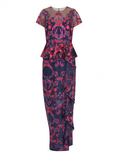 Платье-макси с цветочным узором - Общий вид
