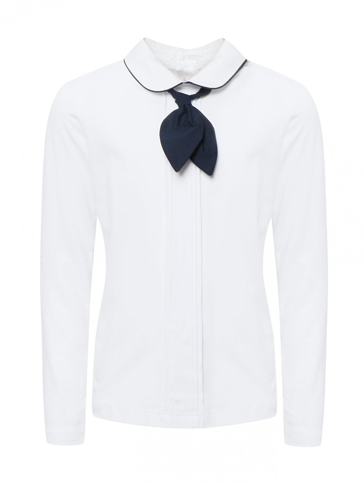 Блуза трикотажная с галстуком Aletta Couture  –  Общий вид