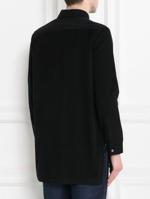 Рубашка вельветовая с узором - МодельВерхНиз1