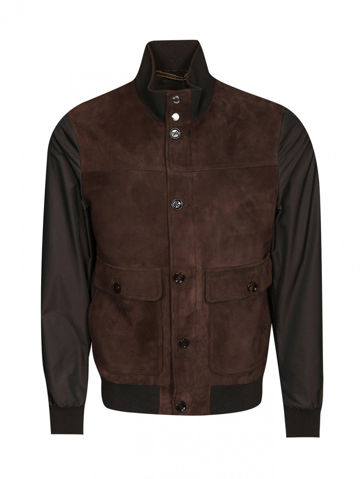 Куртка из замши с накладными карманами Moorer  –  Общий вид