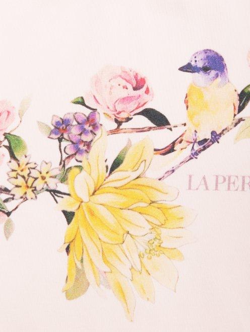 Пижама трикотажная с цветочным узором La Perla - Деталь