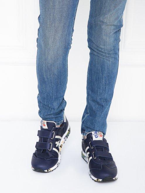Кроссовки кожаные на липкой застежке Premiata will be - МодельВерхНиз