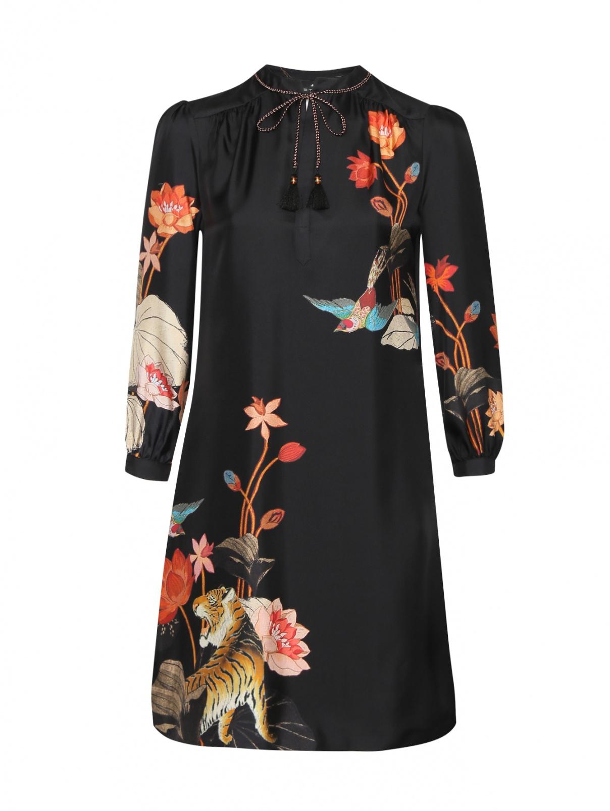 Платье из шелка с узором Etro  –  Общий вид