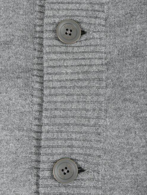 Джемпер из кашемира и шелка на пуговицах - Деталь