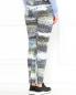 Узкие брюки из хлопка с боковыми карманами и узором Kenzo  –  Модель Верх-Низ1