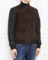 Куртка из замши с накладными карманами Moorer  –  МодельВерхНиз