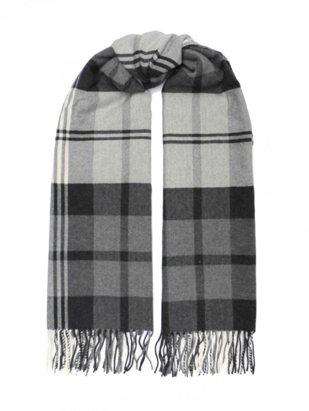 Шарф из шерсти с узором Begg Scotland  –  Общий вид