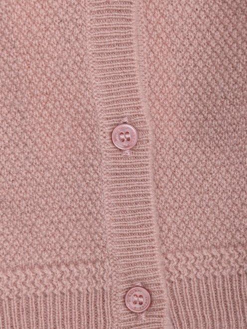Кардиган фактурной вязки из кашемира - Деталь