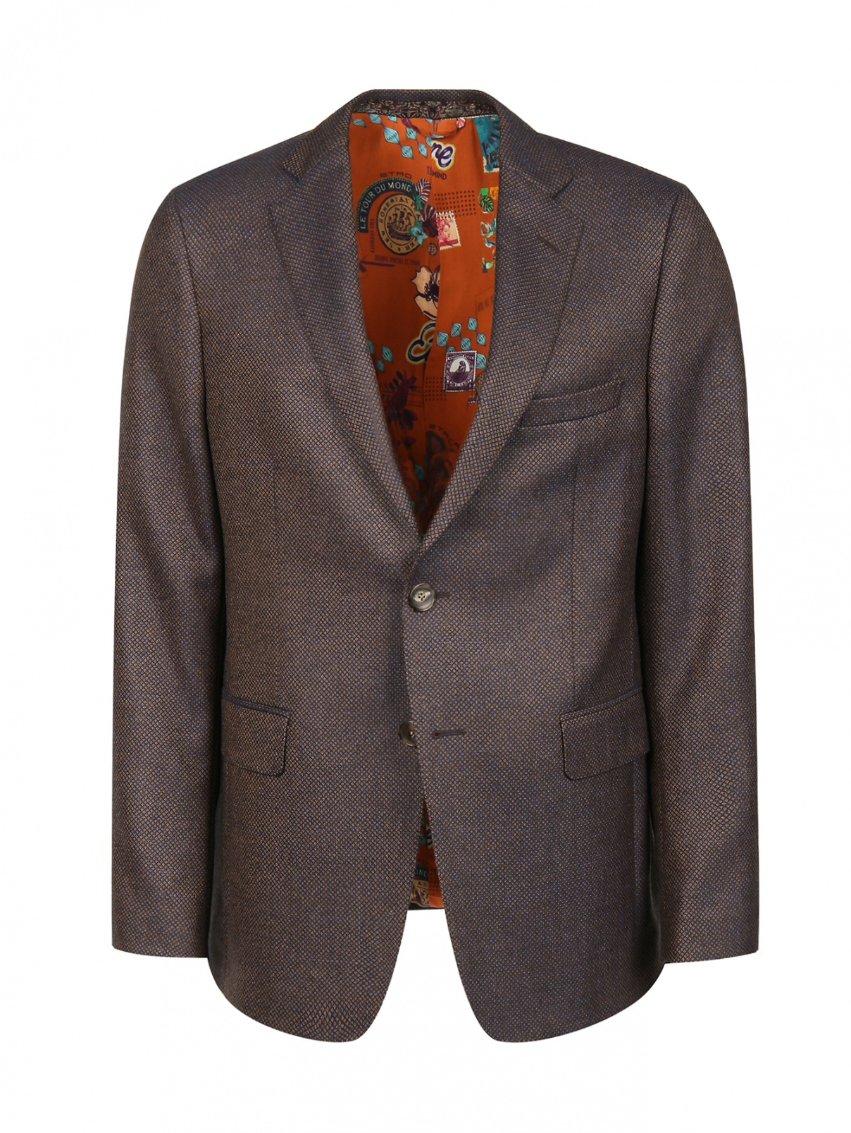 Пиджак из шерсти с узором Etro  –  Общий вид