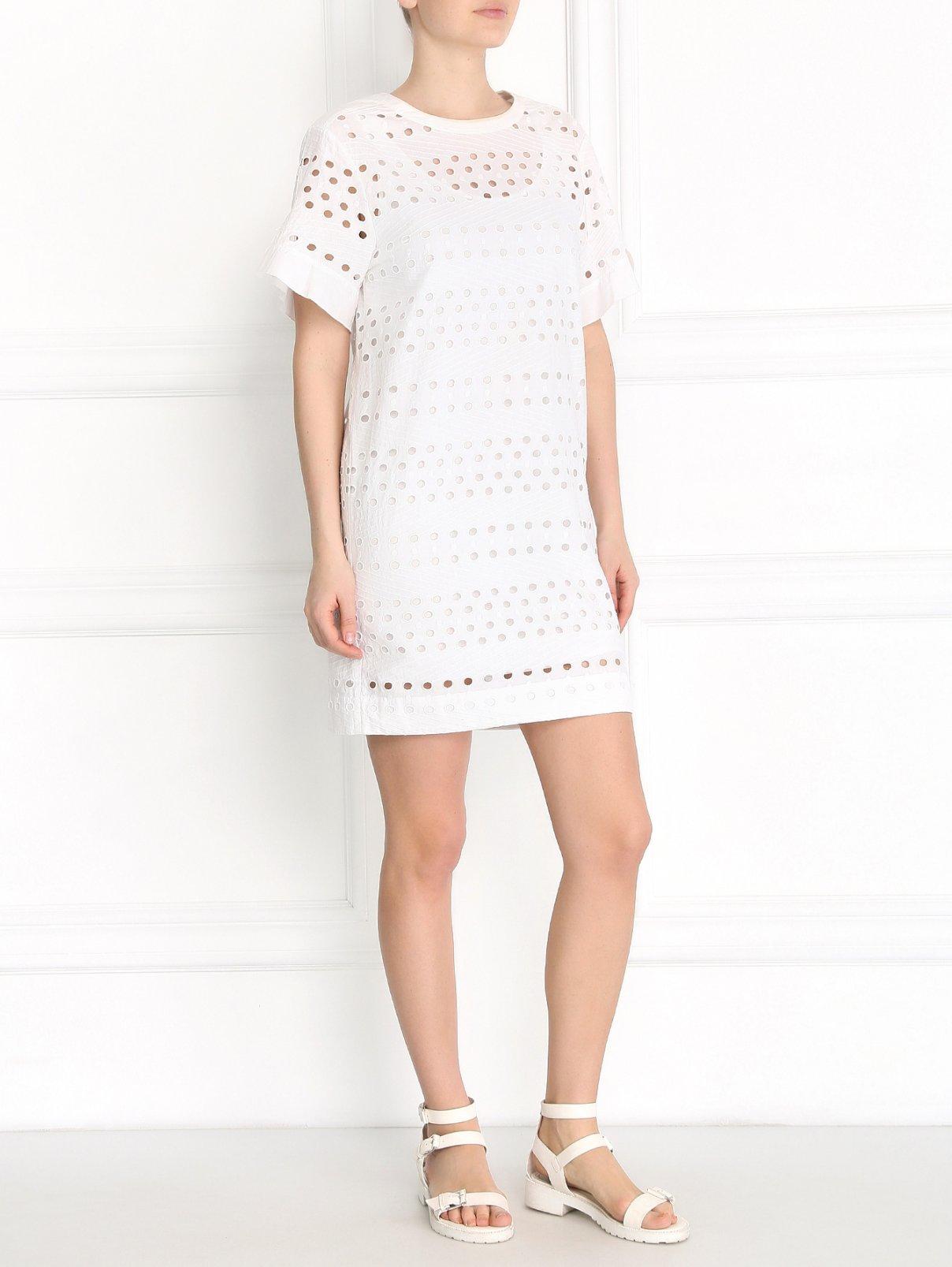 Платье-мини свободного кроя из хлопка See by Chloé  –  Модель Общий вид