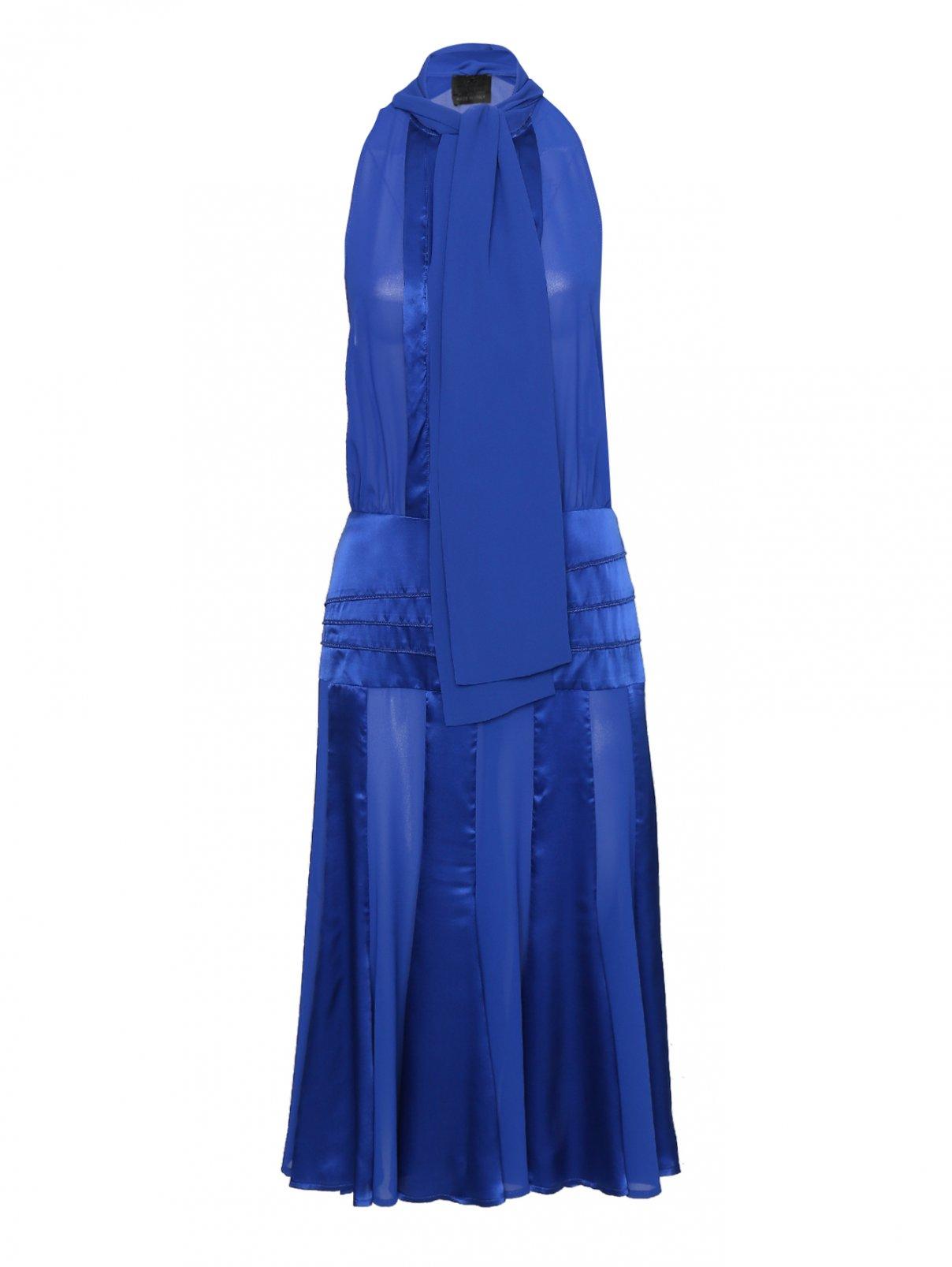 Платье из шифона и шелка с бантом Elisabetta Franchi  –  Общий вид