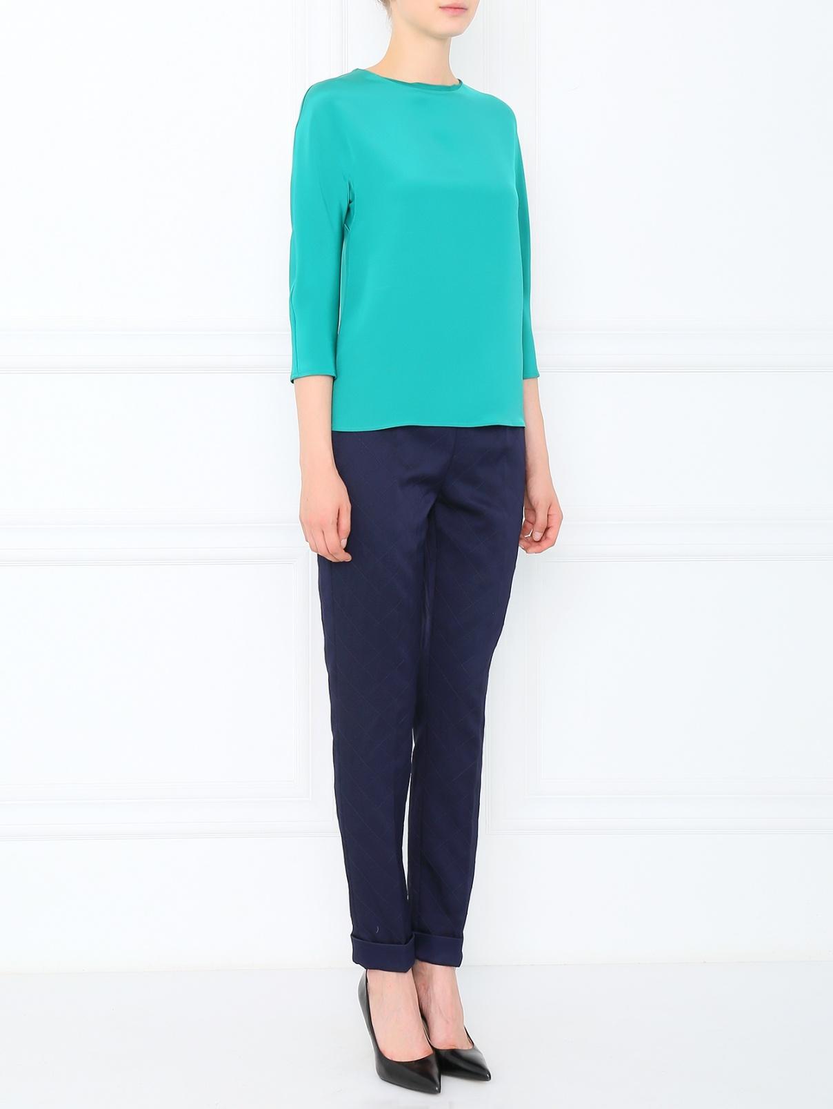 Брюки узкие с подворотом Moschino Couture  –  Модель Общий вид