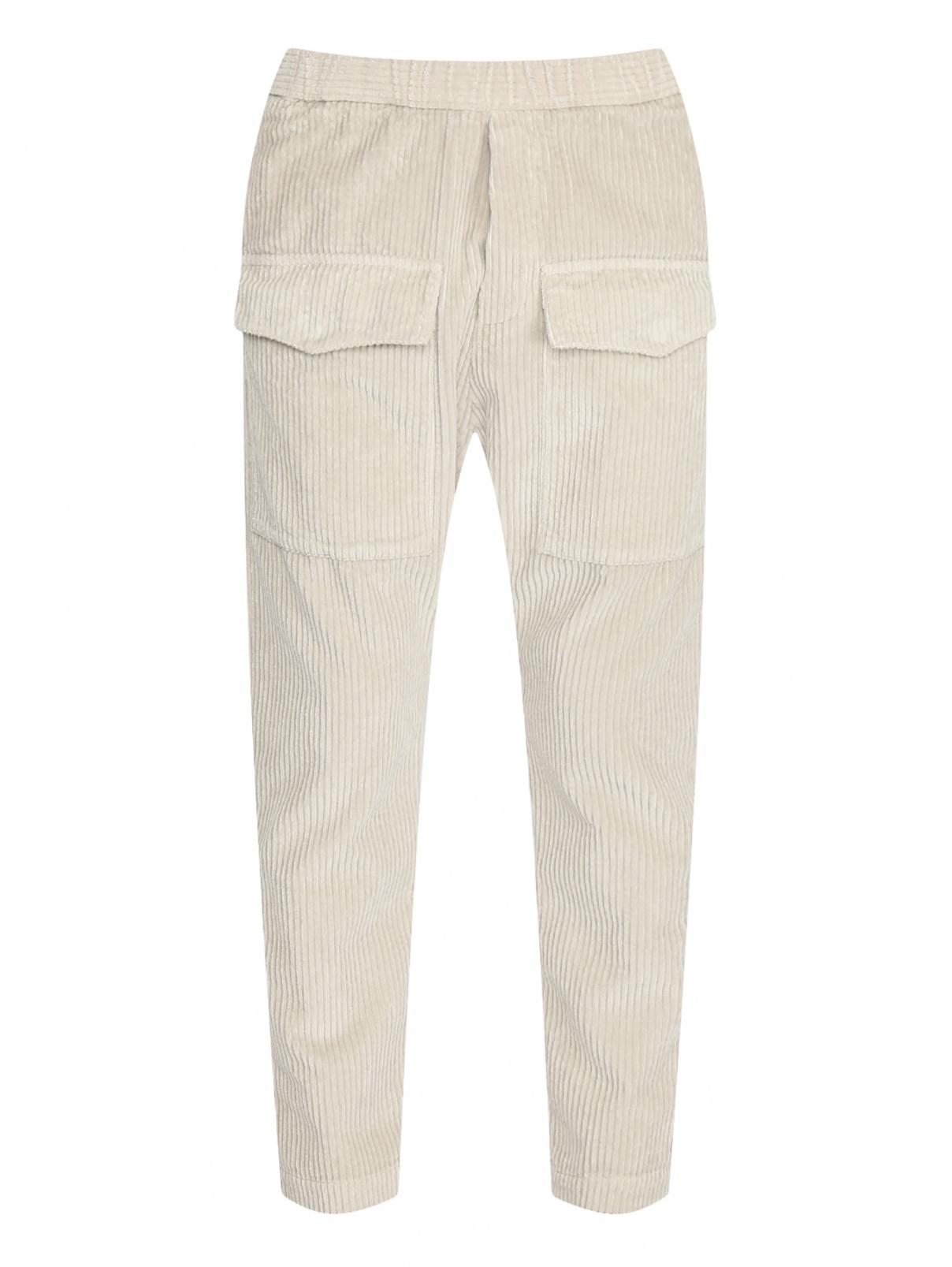Вельветовые брюки из хлопка с накладными карманами Barena  –  Общий вид
