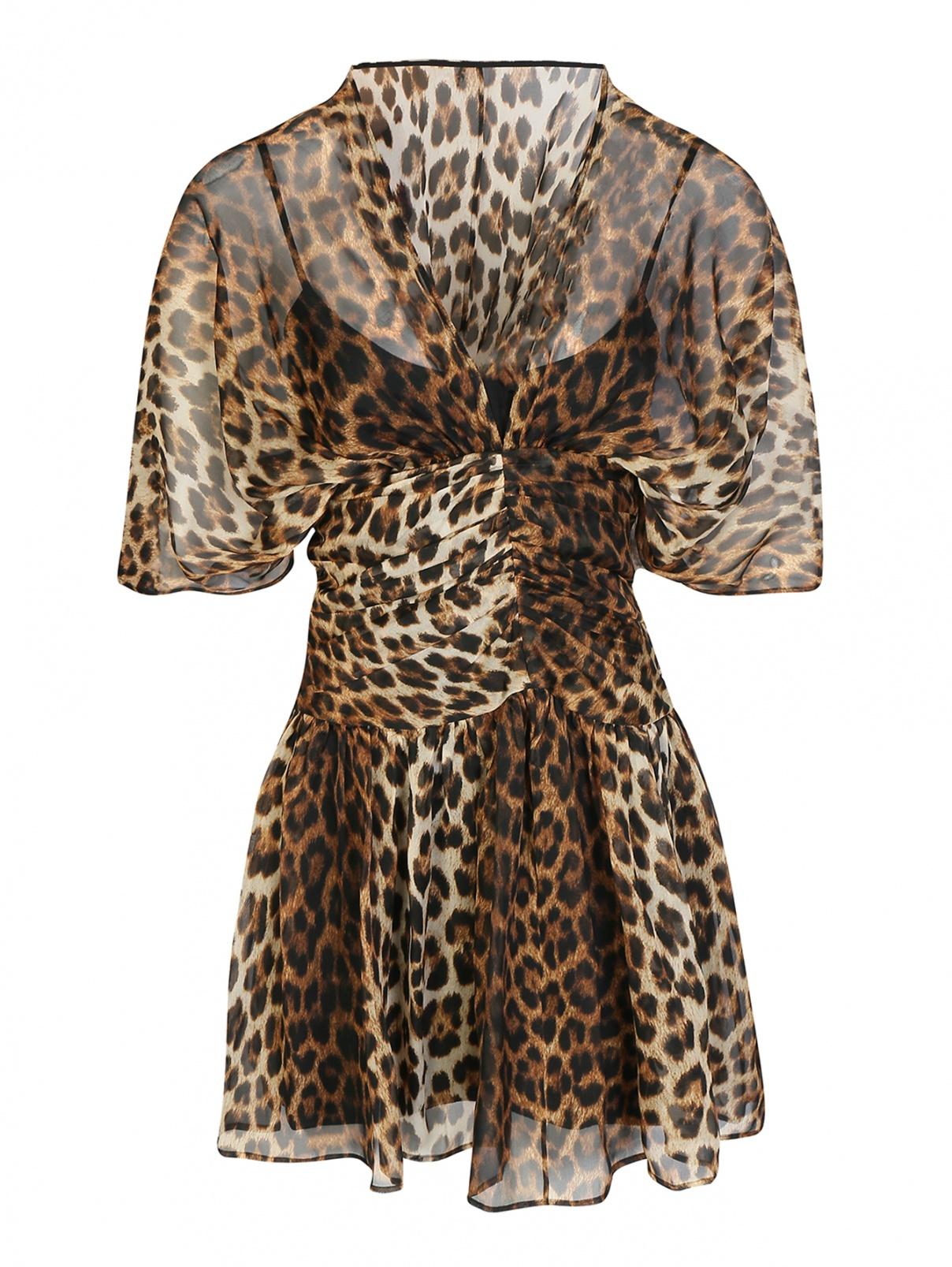 Платье шелковое с животным принтом N21  –  Общий вид