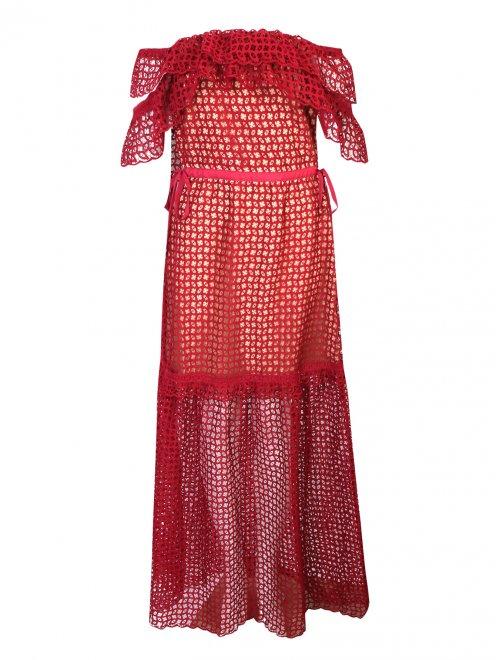 Платье-макси из кружева - Общий вид